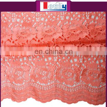 guipure coral cord lace fabric african lace for party
