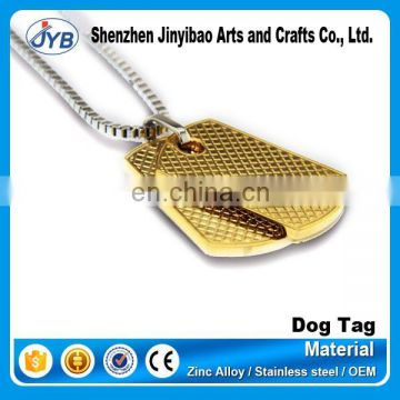 soft enamel gold plated brass dog tag