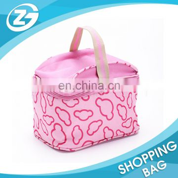100% Manufacturer Costom Logo Fashionable Recycled High Quality Polyester Easy Carry Lunch Insulated Cooler Bag