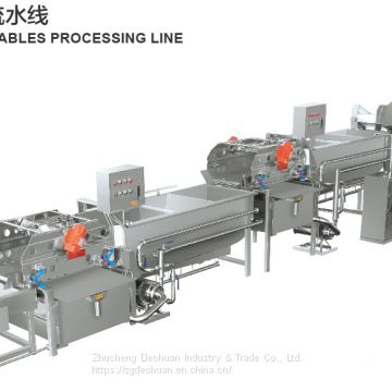 Vegetable And Fruit Washing Machine/Cleaning Processing Line