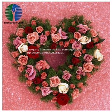 china factory artificial flower wreath for christmas decoration