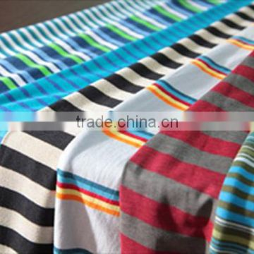 afa277b45c7 summer T-shirt knit fabric dyed yarn 100%cotton single jersey stripe fabric  of fabric from China Suppliers - 138271473
