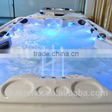 CE approved freestanding swimming pool outdoor swim spa above ground spa pool