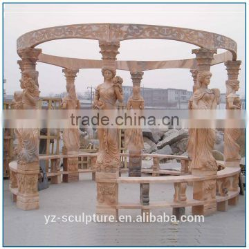 natural stone marble white marble outdoor garden gazebo