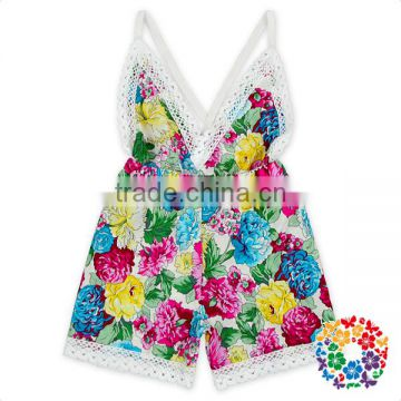 Hot girls newborn baby clothes summer flowers kids clothing baby clothes romper