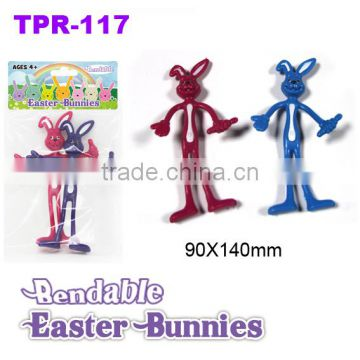 New Soft Plastic Bendable Easter Bunny Toys