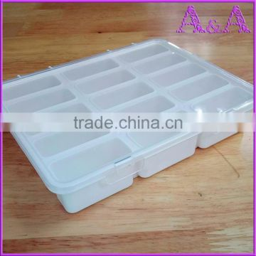 ... Empty 15 Compartment Plastic Clear Storage Box For Jewelry Rainbow loom bands Container Sundries Organizer ...  sc 1 st  find quality and cheap products on China.cn & Empty 15 Compartment Plastic Clear Storage Box For Jewelry Rainbow ...