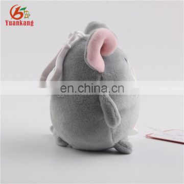 Cheap custom mini plush cute mouse keychain toys with backpack clip