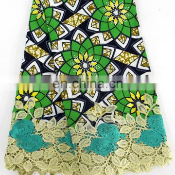 African ankara lace women fashion wax lace with stones New arrival wax designs women fashion dress fabrics material 2017