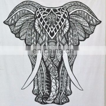 Elephant Mandala Tapestries Hippie art Tapestry Beach Throw Blanket Hippie bed cover Queen Size Wall Hanging picnic Wholesale