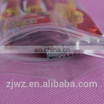 2015 transparent plastic zip lock bag