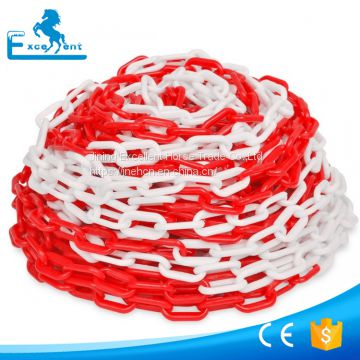 Traffic use plastic chain in stocks