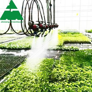 PC Sheet Agriculture Greenhouse Equipped with Misting System
