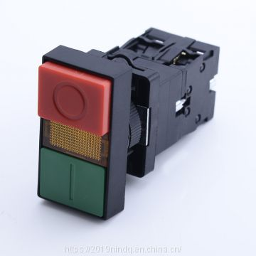illuminated double-headed button with Neon or LED 6-380V pilot light push button