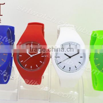 Simple style silicone watch with different colors for teenagers