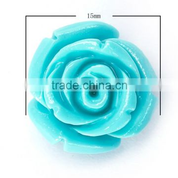 Nice Turquoise #2 Synthetic Turquoise Carved Rose Howlite Coral Flower Carving Loose Beads 20 pcs per Bag For Jewelry Making