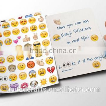 Hugs and Kisses Pack of 288 Waterproof Removable Emoji Stickers of