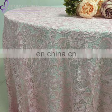 TL035B pink lace embroidered made in china table cloth