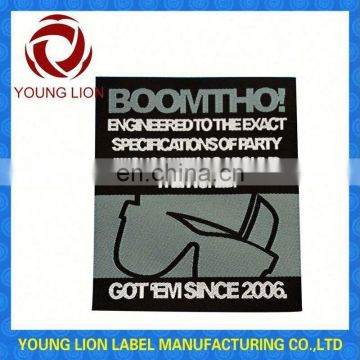 high density adhesive woven labels