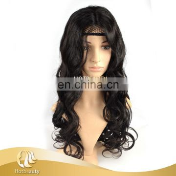 2015 fashion ladies brazilian hair natural wave u- part wig with baby hair
