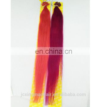 Top Quality Wholesale Cheap 100 Human Remy U Tip Bright Colors Hair Extensions