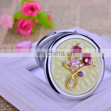 Stylish Pocket Mirror Custom Logo Compact Mirror Compact Mirror With Enlarge