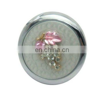 Factory offer New arrival selling Zinc Alloy Fashionable Bejewelled metal handheld mirror