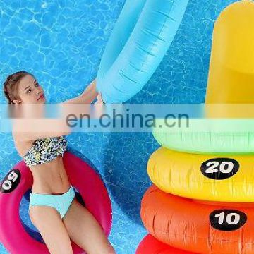 inflatable swim ring target toss game