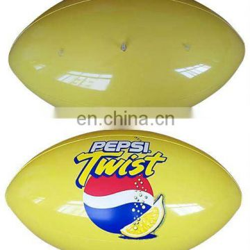 yellow Inflatable rugby ball