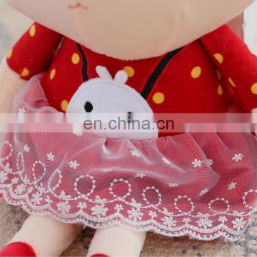 Cute Rabbit w/ Red clothes Girl stuffed plush toy