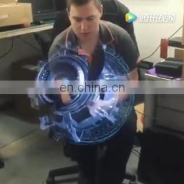 Factory wifi app hologram display 3d hologram advertising fan projector led fan 3d hologram display