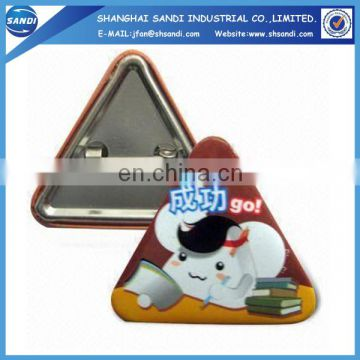 promotion button tinplate badge for garment