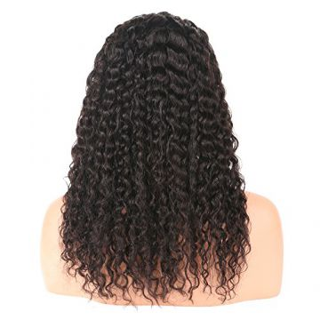 Deep Wave Brown 24 Human Hair Inch Curly Human Hair Wigs No Chemical