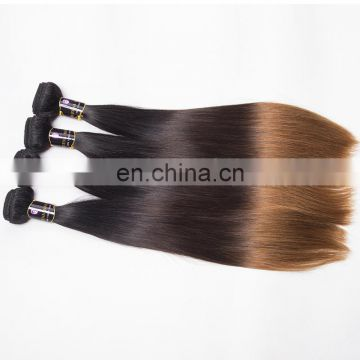 aliexpress hot sale 100% human ombre hair 1b/4/30 color sew in indian human hair weave ombre hair extensions