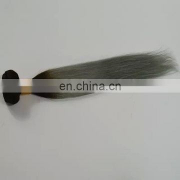 Sew In Human Hair Weave 1b Grey Ombre Hair Grey Fusion Peruvian Straight Hair Extensions
