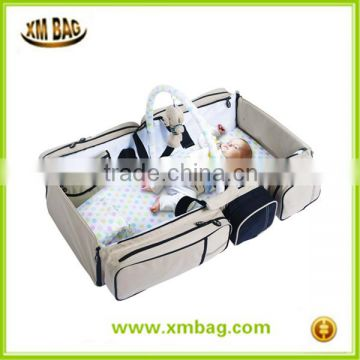 Baby Travel crib and Magical Baby Bag- 9 in 1 Multifunctional Baby Travel Bed Cot Baby Bassinet and Diaper Bag baby changing mat                                                                         Quality Choice