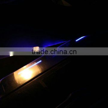auto led door sill plate scuff plate for fo.rd fo cus 2012-2014 led moving door scuff pedal light strip mirror light accessory