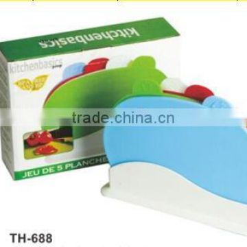 Wholesale Hot Sale 4pcs Chopping Board With Holder TH-688