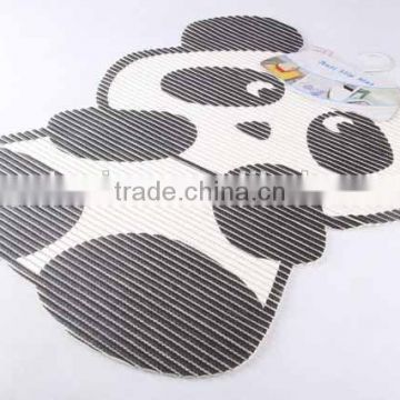 Cartoon panda shaped printed EVA anti slip bath mat