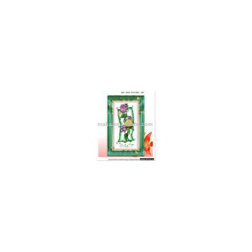 quenna flower and grass cross-stitch finished product hand-knitted cross stitch craft ,