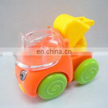 Pull back cartoon construction truck candy can pull back truck toy