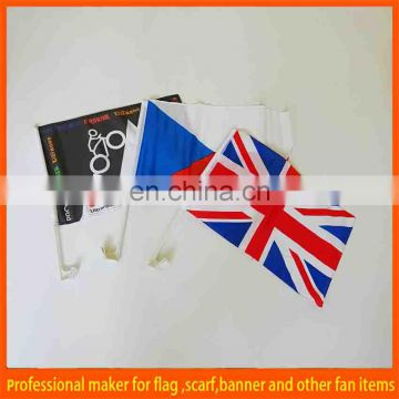 cheap custom car window flag with plastic pole