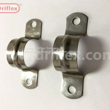 Driflex two hole conduit pipe saddle strap clamp of conduit
