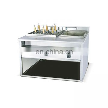 Restaurnts kitchen commercial electric noodle cooker with cabinet