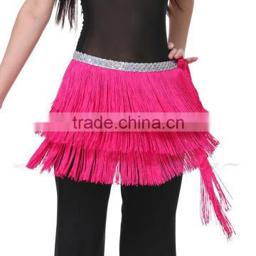 2016 Women New 3 Layers tasseled Belly Dance Belt Waist Chain Fringed Hip Scarf 12 Colors available