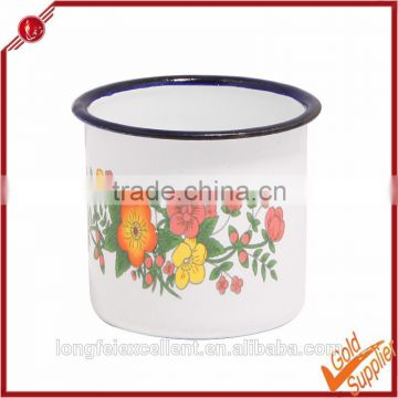 Durable and safe wholesale direct from China Yiwu customized logo printing enamel mug