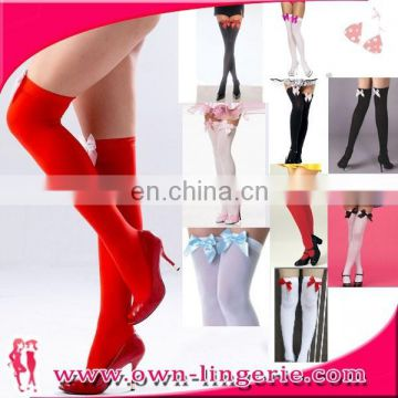 Sexy Girl Cheap Leggings With Knee Come With Bow Knot