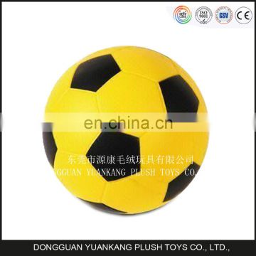 Factory small 5 inch colorful super soft stuffed soccer ball toy plush for kids