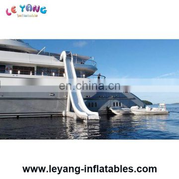 Yacht Slide Inflatables Water Games / Customized Inflatable Slides For Yacht/ Cruiser,High Water Slide On Sea