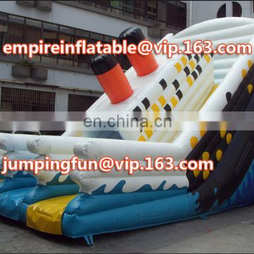 Medium size inflatable tank slide for kids ID-SLM042
